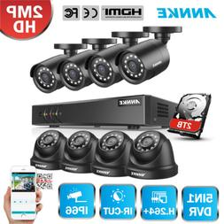 ANNKE 8CH 1080P Lite DVR 2MP 3000TVL IR Night Security Camer