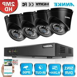 ANNKE 1080P HDMI HD-TVI 4CH DVR Outdoor Home Security IR Dom