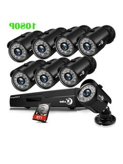 8ch 1080p security camera system outdoor