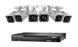 Lorex 8CH 4K HD NVR 6 Bullet Camera Security System - White/