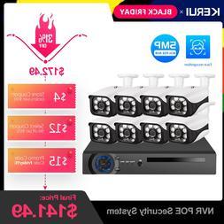 KERUI 8CH 5MP Wireless NVR POE <font><b>Security</b></font>