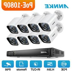 ANNKE 8CH 6MP NVR PoE 8x 1080P IR night vision Security Came