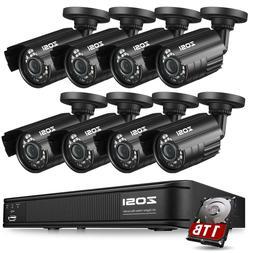 ZOSI  8CH 720P CCTV Security Outdoor Camera DVR Night Vision