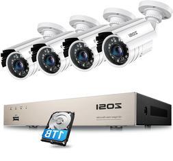 ZOSI 8CH 720P HDMI DVR Home Outdoor Security Bullet CCTV Cam