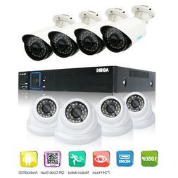 AOMG 8CH AHD DVR+8pcs 2000TVL Outdoor Home IR CCTV Security