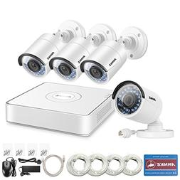 ANNKE 8CH 1080P HD sPOE NVR Surveillance Video System and  1