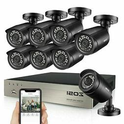 ZOSI 8CH H.265+ 5MP Lite DVR 1080P Outdoor Surveillance Secu