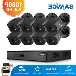 SANNCE 5in1 8CH 1080P HDMI DVR 1500TVL IR CUT CCTV Camera Ho