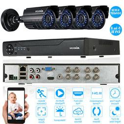 KKmoon 8CH DVR 4* 1080P Camera CCTV 4*60ft Cable Night View