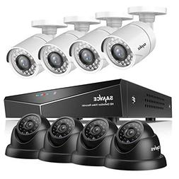 SANNCE 8CH 1080N DVR Recorder Home Security Systems and  128