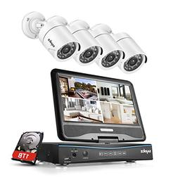 SANNCE 8CH 720P DVR Security Camera System with 1TB Surveill