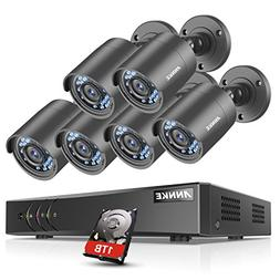 ANNKE 8CH 1080N DVR Security Camera System with 1TB Hard Dri