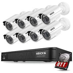 ZOSI 8CH HD DVR Outdoor Surveillance Security Night Vision c