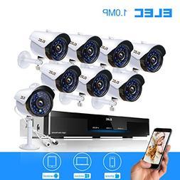 ELEC 8CH 960H HDMI DVR 1200TVL Security Cameras, 8 Channel S