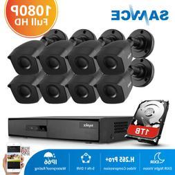 SANNCE 8CH 1080P HDMI DVR 2MP 3000TVL Video CCTV Security Ca