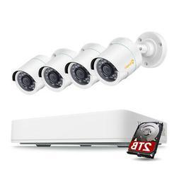 8CH 1080p HDMI DVR 2MP Outdoor IR-Cut Home Security Camera S