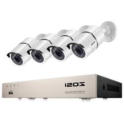 ZOSI 8CH 5MP Lite DVR 1080p Outdoor Home Security Camera Sys