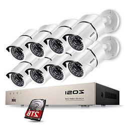 ZOSI 8CH 1080P HD-TVI Video System DVR Recorder with 8 Weath
