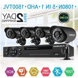 FLOUREON House Security Camera System 1080N DVR + 4 Pack 1.0