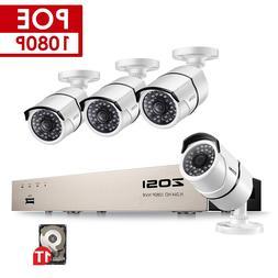 ZOSI 8CH NVR 1080P IP Network POE <font><b>Video</b></font>