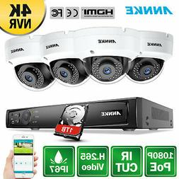 ANNKE 8CH HD 6MP NVR 1080P PoE IP Network WDR Outdoor Securi