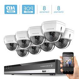 Amcrest 2MP 1080P Security Camera System, w/ 4K 8CH PoE NVR,