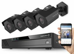 Amcrest 4MP Security Camera System, w/ 4K 8CH PoE NVR,  x 4-