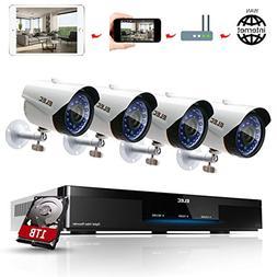 ELEC 1080P 8CH CCTV Security System DVR with  1.3MP 2000TVL