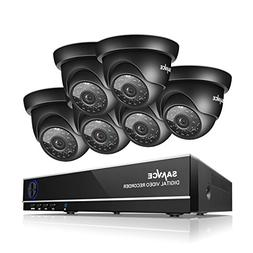 SANNCE 8CH 1080N Security Camera System DVR and  720P Night