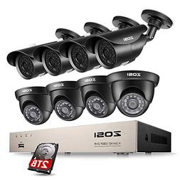 ZOSI 8CH 1080P Security Camera System HD-TVI Video DVR Recor