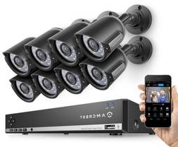 Amcrest 960H 8CH 1TB DVR Security Camera System w/ 4 x 800+