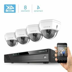 Amcrest 8CH 4K Security Camera System w/H.265 4K  NVR,  x 4K