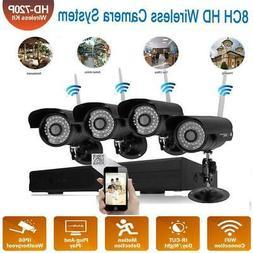 8CH Wireles NVR Waterproof Wifi IR-CUT Camera Home Security