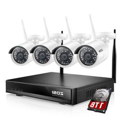 2c3508df9 ZOSI 2MP Wireless Security Camera System 1080p 4CH WIFI NVR