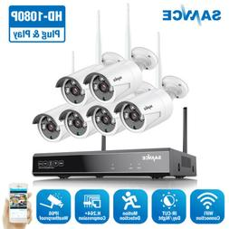SANNCE Wireless 8CH NVR 1080P Security Camera System IP Netw