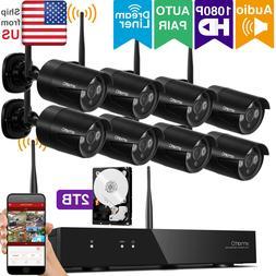xmartO 8CH 1080p HD Outdoor Wireless Security Surveillance