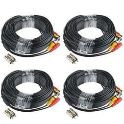 ABLEGRID 4 Pack 100ft bnc Video Power Cable Security Camera