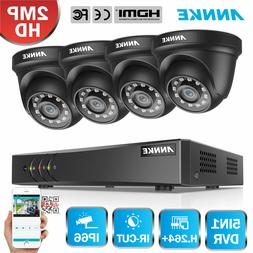 ANNKE 1080P Dome Camera 8CH 1080N DVR Home Outdoor Indoor Se