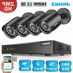 ANNKE 2MP HD System 8CH 1080N DVR Security Camera 2000TVL IR