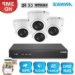 ANNKE HD 3MP 4CH DVR In/Outdoor IR CCTV Security Camera Syst