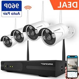 Wireless Security Camera System,SMONET 4CH 1080P HD Video S