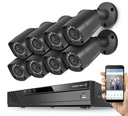 Amcrest Full-HD 1080P 8CH Video Security System w/ Eight 2.0