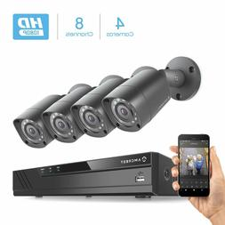 Amcrest Full-HD 1080P 8CH Video Security System w/Four 2MP O
