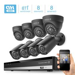 Amcrest HD 1080-Lite 8CH Video Security Camera System - AMDV