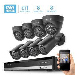Amcrest HD 1080-Lite 8CH Video Security Camera System - AMDV