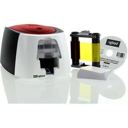 Badgy200 Plastic Card Printer with Badge Studio+ ID design s
