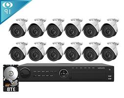 LaView 12 1080P IP Camera Security System, 16 Channel 1080P