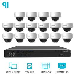 LaView Premium PoE IP 16 Camera Security Surveillance System