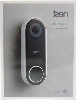 Nest Hello NC5100US Smart Video Doorbell With Google Home Mi