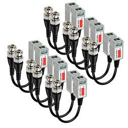 VIMVIP 6 PAIRS  Mini CCTV BNC Video Balun Transceiver Cable
